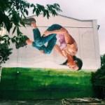 В Киеве появились граффити с Лесей Украинкой и украинской гимнасткой