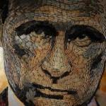 Украинская художница создала портрет Путина из гильз от оружия