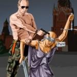 Азербайджанский иллюстратор нарисовал смерть правосудия в России
