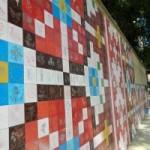 В Виннице сделали огромную мозаику-полотенце из керамической плитки