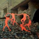Сирийский художник делает коллажи из шедевров живописи и разрушенных домов