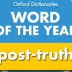 Словом года по версии Оксфордского словаря стало «пост-правда»